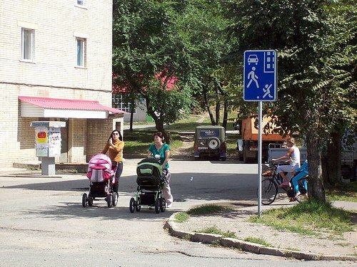 Движение в жилых зонах