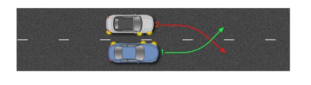 ДТП при одновременном перестроении из одной полосы