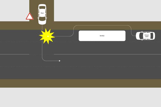 ДТП при выезде с прилегающей территории на перекресток