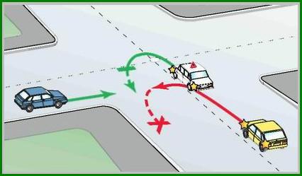 ДТП при развороте на перекрестке