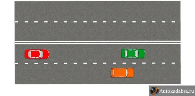 Штраф за движение по левой полосе вне населенного пункта